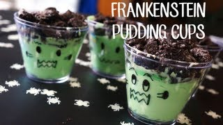 YUMMY DIY- FRANKENSTEIN PUDDING CUPS