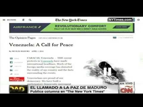 Maduro hace un llamado a la paz desde el NYT