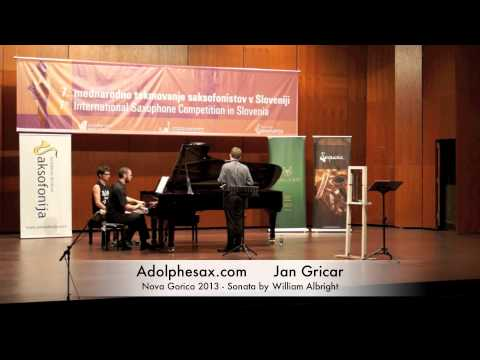 Jan Gricar – Nova Gorica 2013 – Sonata by William Albright