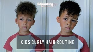 Kids Curly Hair Routine