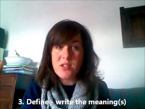 English Lesson! Top tips for learning new vocabulary