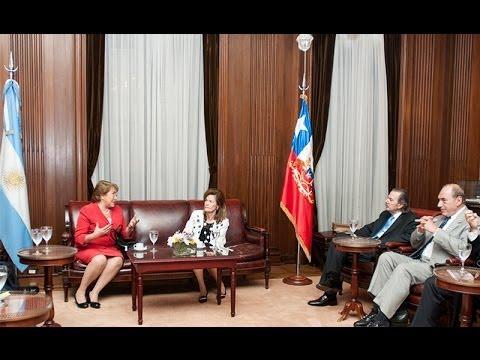 La presidenta de Chile visit� la Corte Suprema de Justicia