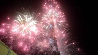 Fireworks In Burj Khalifa, Dubai New Year 2012