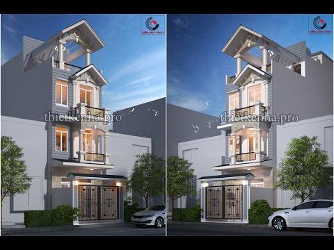 Mẫu Thiết Kế Nhà Đẹp 2 Tầng 3D Full HD - KAV