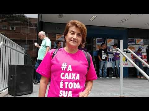 Eneida Koury, fala sobre protesto contra privatização da Caixa