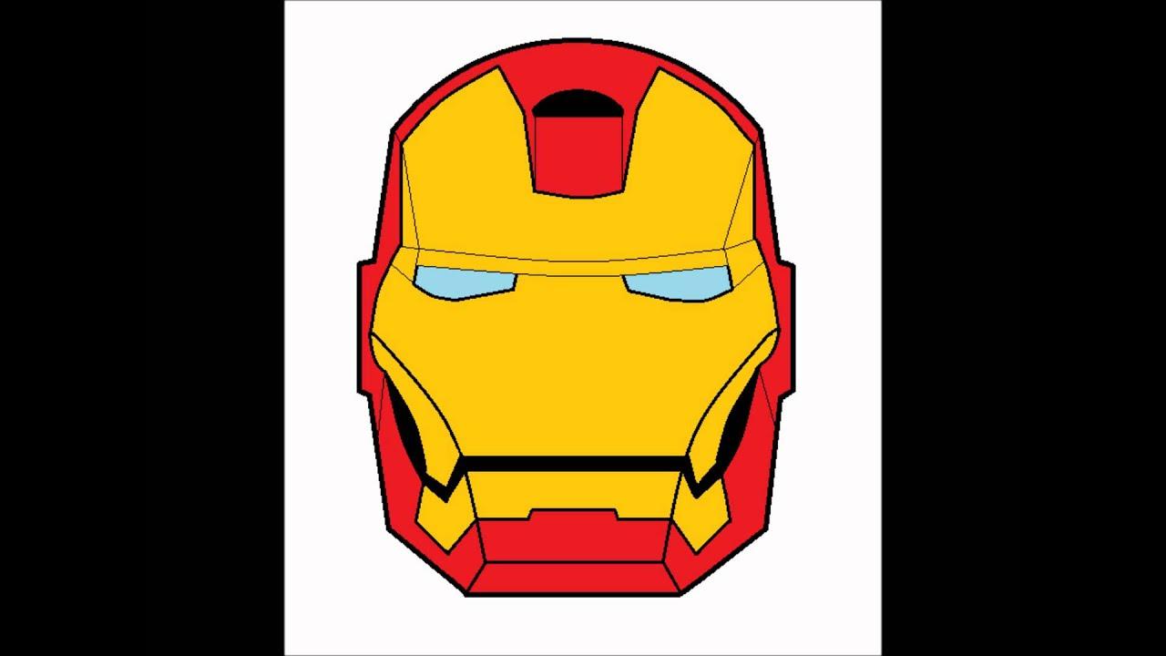 Iron Man Helmet Drawing Iron Man Face Mask Drawing