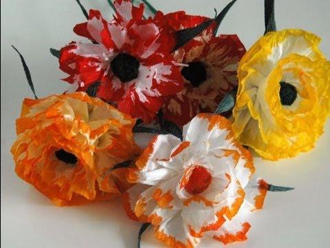 Kwiaty z  bibuły. DIY