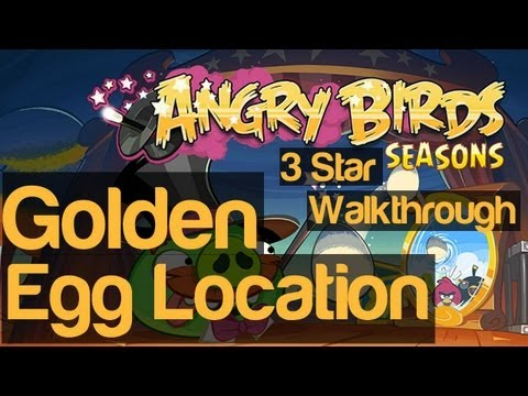Angry Birds Seasons Abra-Ca-Bacon Golden Egg Location Bonus Level 5 3 Star Walkthrough