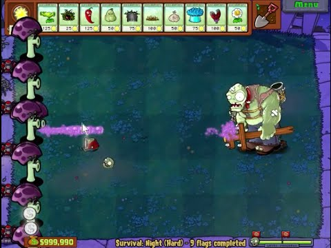 240 SCAREDY SHROOM HACK 100% PLANTS VS ZOMBIES