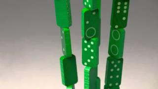 domino fleur en bois, jeu original