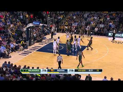 Milwaukee Bucks vs Indiana Pacers | February 27, 2014 | NBA 2013-14 Season