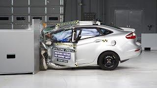 2014 Ford Fiesta Sedan Small Overlap IIHS Crash Test