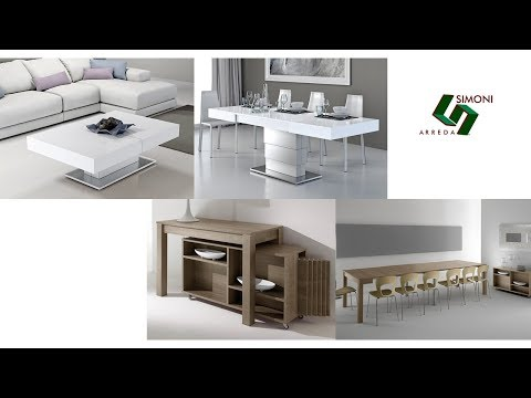 Tavolini trasformabili tavoli consolle simoni arreda for Lideo arreda