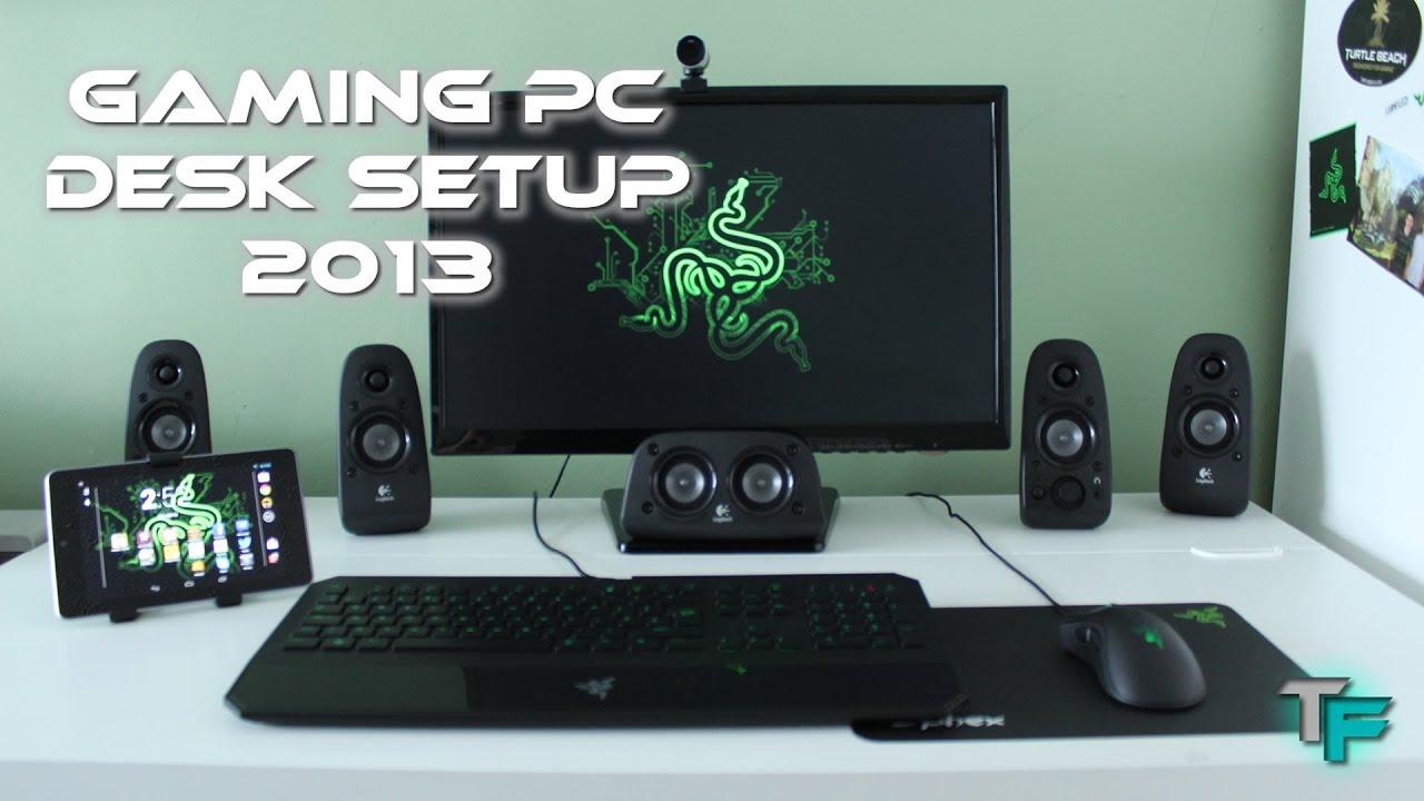 Gaming PC Desk Setup 2013 - Razer Style - YouTube