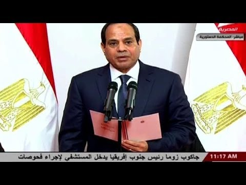 Egypte: le président Abdel Fattah al-Sissi prête serment