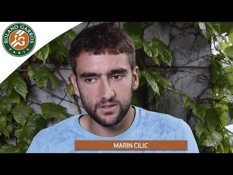 2014 French Open . M.Cilic talks about N.Djokovic