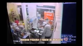 Suspeito rouba padaria e foge de bicicleta em Machado