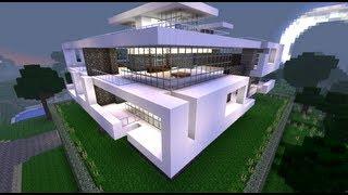 Minecraft Tuto : Construction Maison Moderne (_partie 2