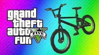 GTA 5 Online Funny Moments BMX Bike Fun, Wack-a-Bike