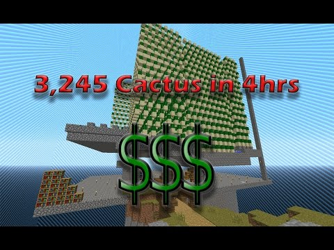 HOW TO MAKE THE BEST CACTUS FARM IN MINECRAFT | MAKES 3,245 CACTUS IN 4HRs !!!