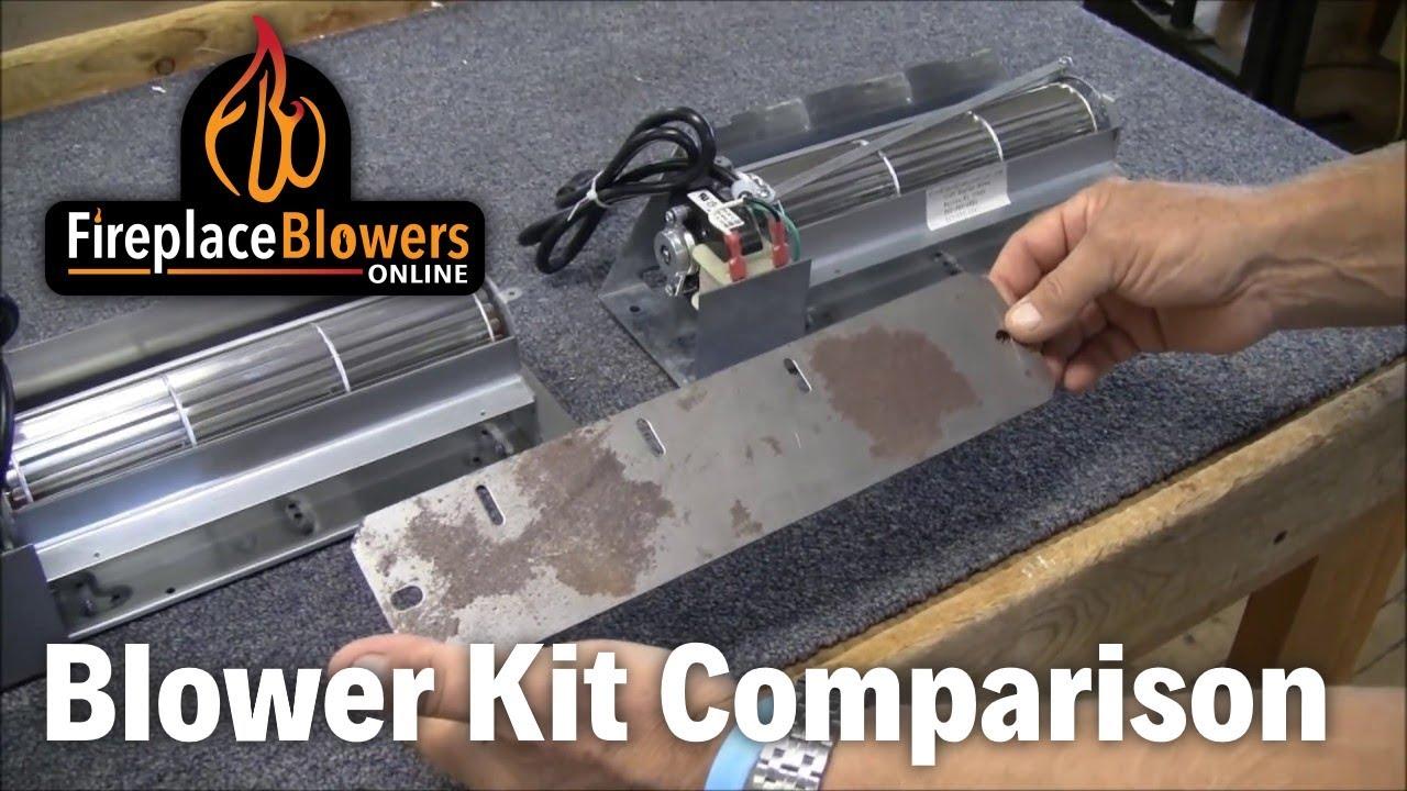Fireplace Blower Kit Comparison Youtube