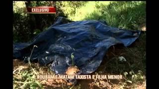 Corpos de taxista e filha de 5 anos s�o encontrados cabornizados na Zona da Mata