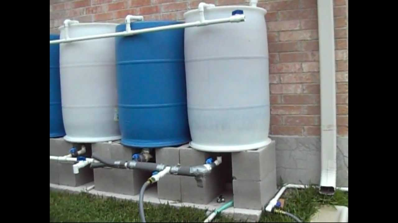 Rain Barrel Solar Pump Set Up Youtube