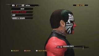 WWE ´12 How To Make Jeff Hardy (With TNA Facepaint