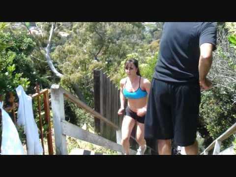 Catherine Holland Fitness Model, Personal Trainer Santa Monica Stairs Run