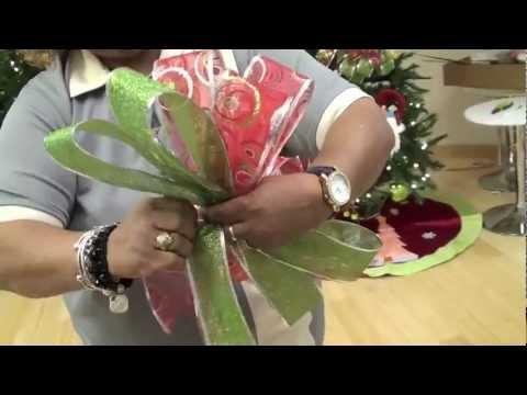 Taller de decoraci n en casa febus c mo hacer un lazo o - Lazos arbol navidad ...