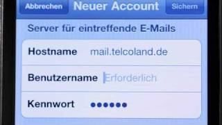 IPhone 4 Telcoland Tutorials E-Mail Konto Einrichten