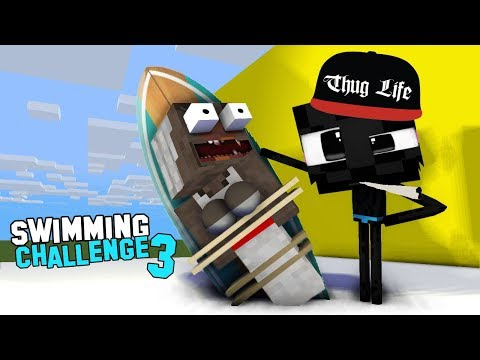 MONSTER SCHOOL : PART3 - FUNNY SWIMMING CHALLENGE WITH BABY MONSTERS - FUNNY ANIMATION