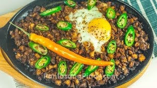 Sizzling Chicken Sisig by Panlasangpinoy.com