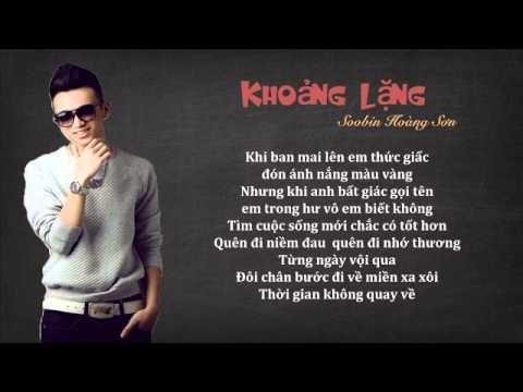 Lyric Khoảng Lặng Soobin Hoàng Sơn
