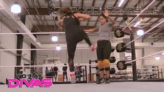 Nikki Bella trains with Bayley: Total Divas, May 3, 2017