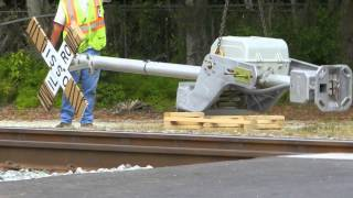 FEC Trains And Rail Crossing Work