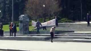 Carul Publika TV stă cu spatele la protestul din PMAN