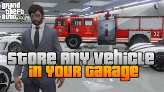 GTA 5 Store ANY Vehicle In Your Garage GLITCH / TRICK