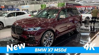 BMW X7 M50d 2019 - first exclusive quick look in 4K - better than new Mercedes GLS?
