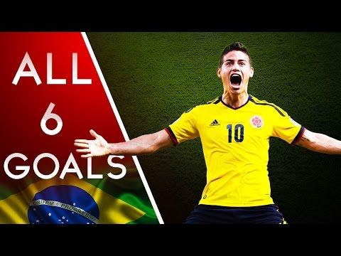 James Rodriguez Goal - World Cup 2014 - All 6 Goals HD