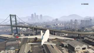 GTA 5 Jumbo Jet Gameplay + Crashes