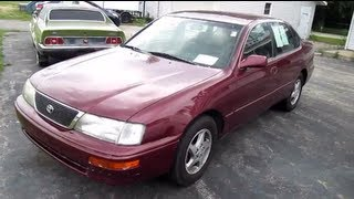 1997 TOYOTA AVALON START UP, Walk Around And Review