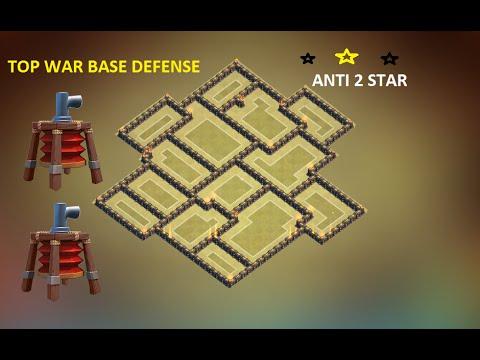 Clash of clans - th9 war base 2015 Town hall 9 anti 2 star anti gowipe,gowihog,gobala + replay