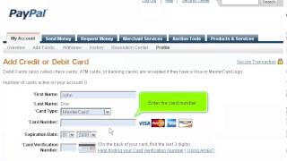 How To Add Your Credit Card To Your PayPal Account