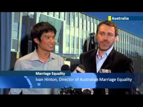 Australian territory legalises gay marriage: same-sex unions were theme of recent election campaign