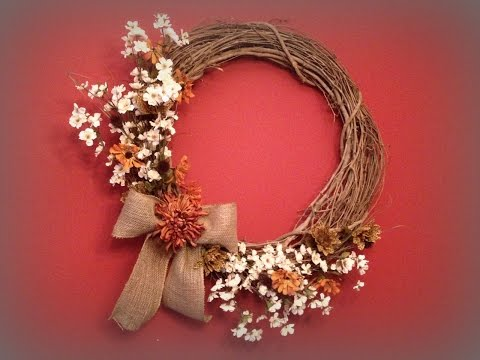Fall Grapevine Wreath Trash To Treasure