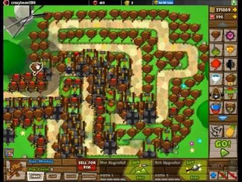 Bloons tower defense 5 creative strategies only dart monkeys