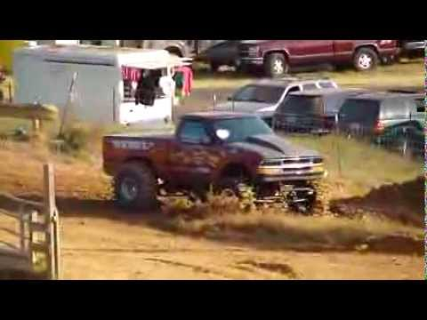 BODATIOUS SEPT. 2012 * BAD ASS DAMN CHEVY S-10 4X4 MUD TRUCK BOGGER * JACKED * LIFTED * CRAZY POWER
