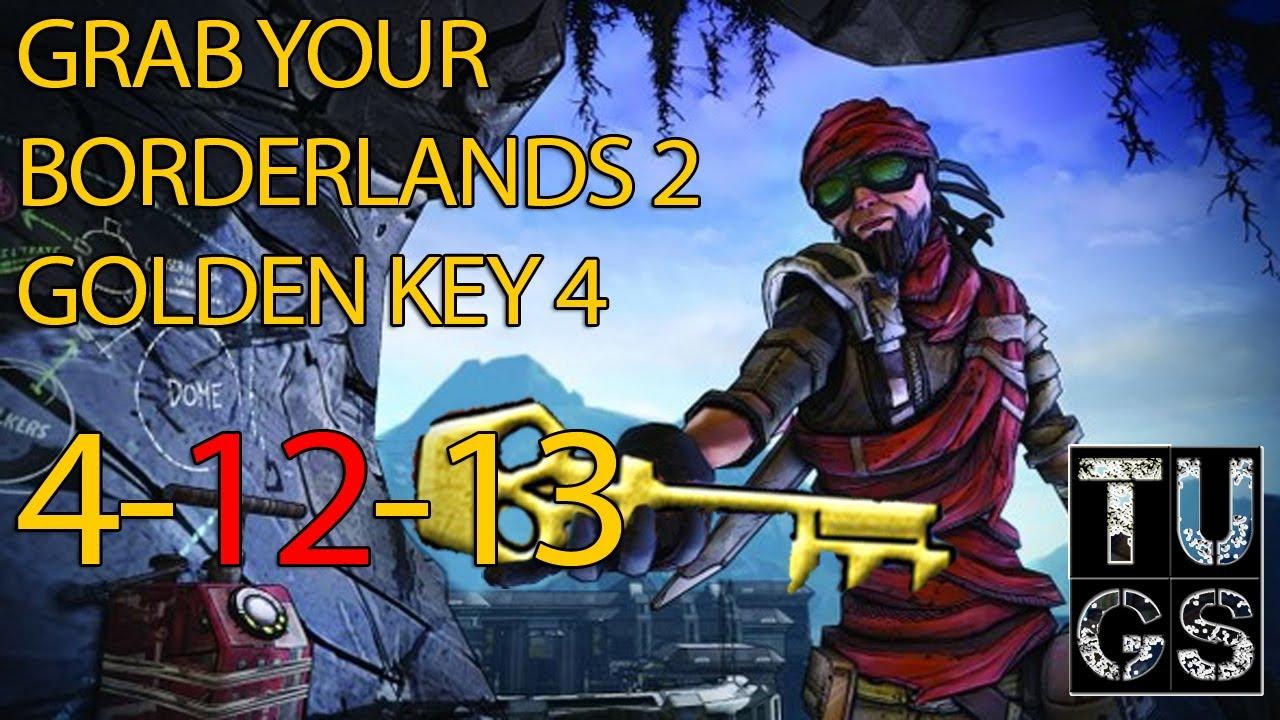 free golden keys borderlands 2