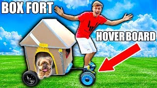 BOX FORT HOVERBOARD!!